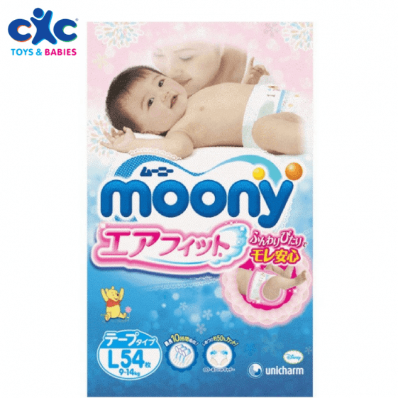 MOONY Baby Diapers – Large (9-14 kg)