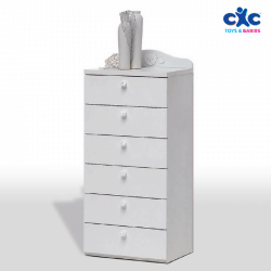 Baby Italia Chest of six drawers CRYSTAL White