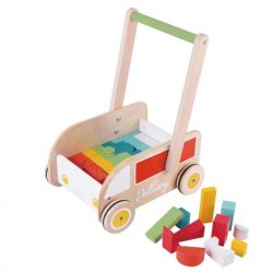 Delivery Baby Walker with Blocks -wooden-cxctoys